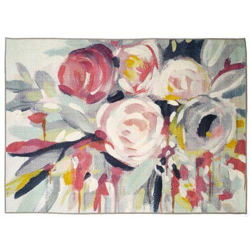 Found it at Wayfair - Marcourt Rose Bouquet Area Rug