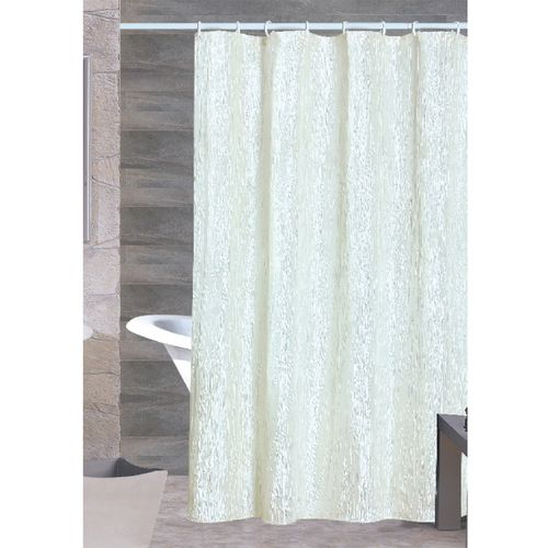 Sherry Crushed Satin Shower Curtain Beige #showercurtains #curtains ...
