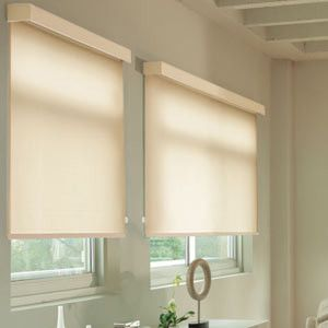 Outside Mount Contemporary Roller Blinds