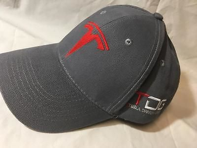 fdb88c9932b Hats 163543  Tesla Drivers Group Tdg Gray Hat Adjustable Baseball Cap  Embroidery Vhtf! -  BUY IT NOW ONLY   35.95 on eBay!