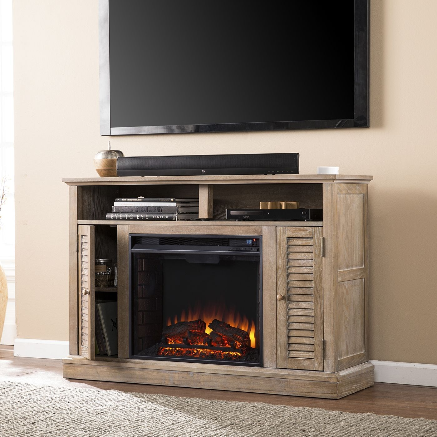Shop Boston Loft Furnishings Farrell Electric Fireplace Tv Stand At The Mine Browse Our Electric Fireplace Tv Stand Fireplace Tv Stand Lowes Home Improvements