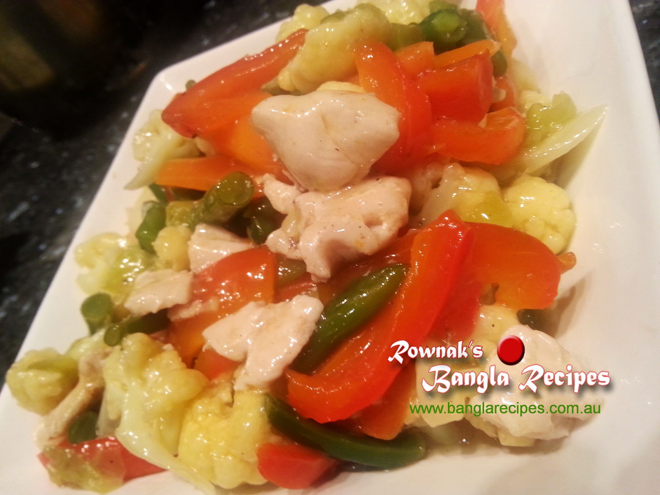 Chinese Mixed Vegetables with Chicken