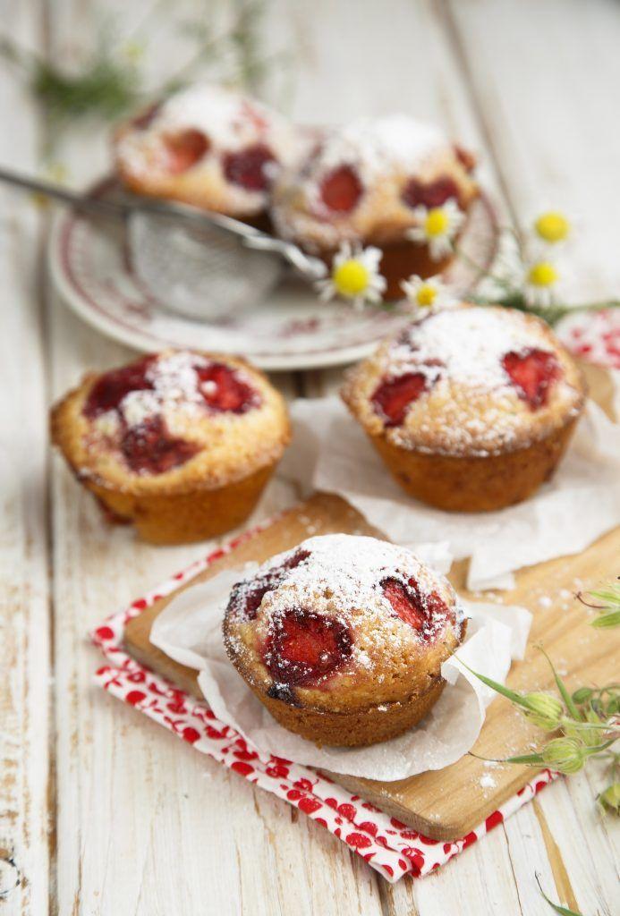 Muffin fragole e vaniglia
