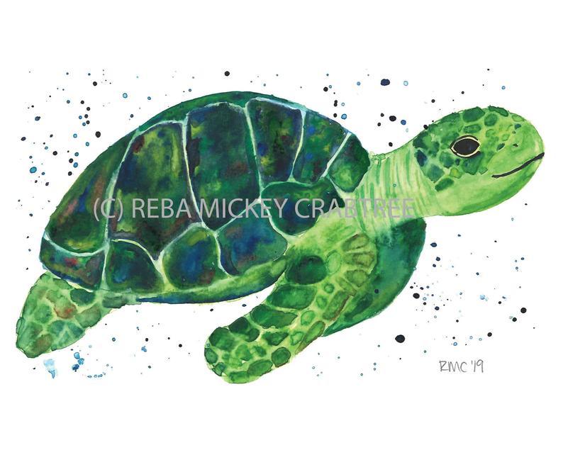 Pin By Karen Gerrity On Turtles Turtle Watercolor Sea Turtle Watercolor Watercolor Art Prints