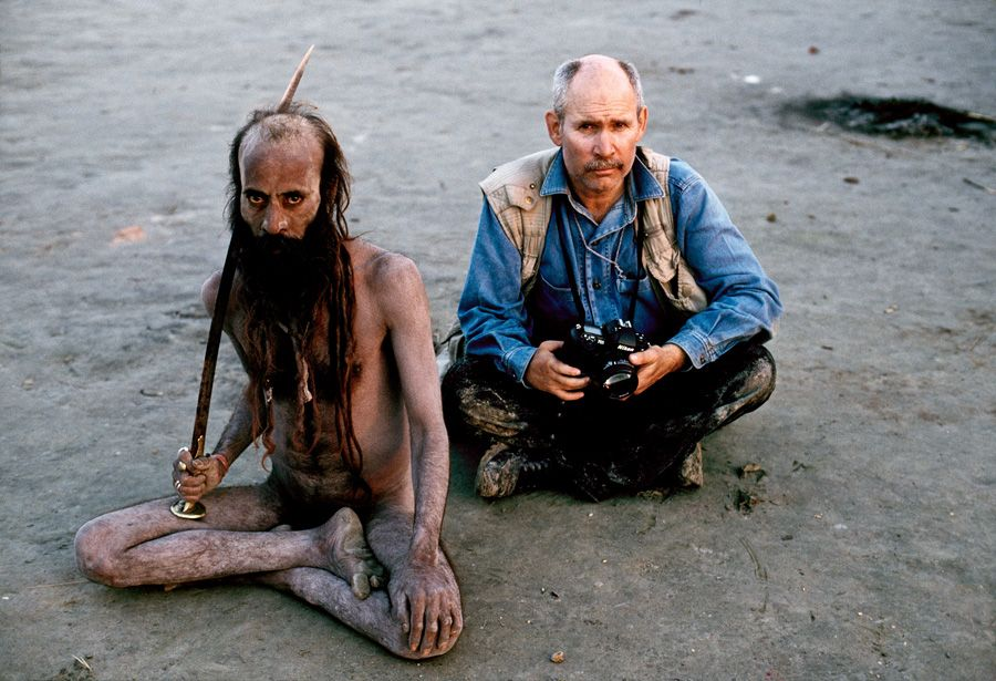 Steve McCurry and Sadhu in Allahabad, India / Photography by Steve McCurry / Here you can download Steve's FREE PDF Catalog and order PRINTS /stevemccurry.com/...