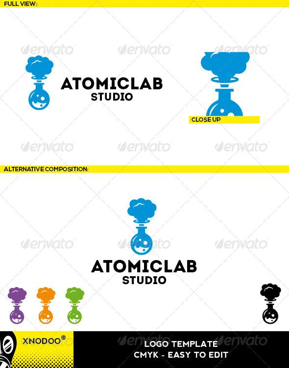 Atomiclab Logo Graphicriver Atomiclab Logo Is A Creative And