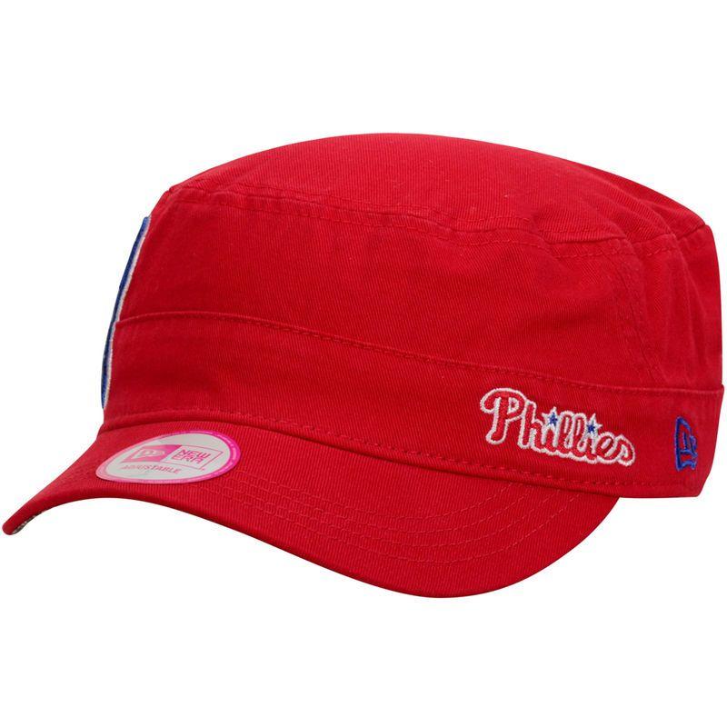 half off 94239 c6556 Philadelphia Phillies New Era Women s Stars   Stripes Military Adjustable  Hat - Red