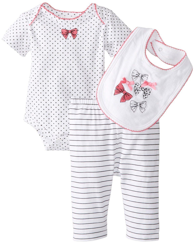 Absorba Baby Girls Body Bodysuit Pack of 3