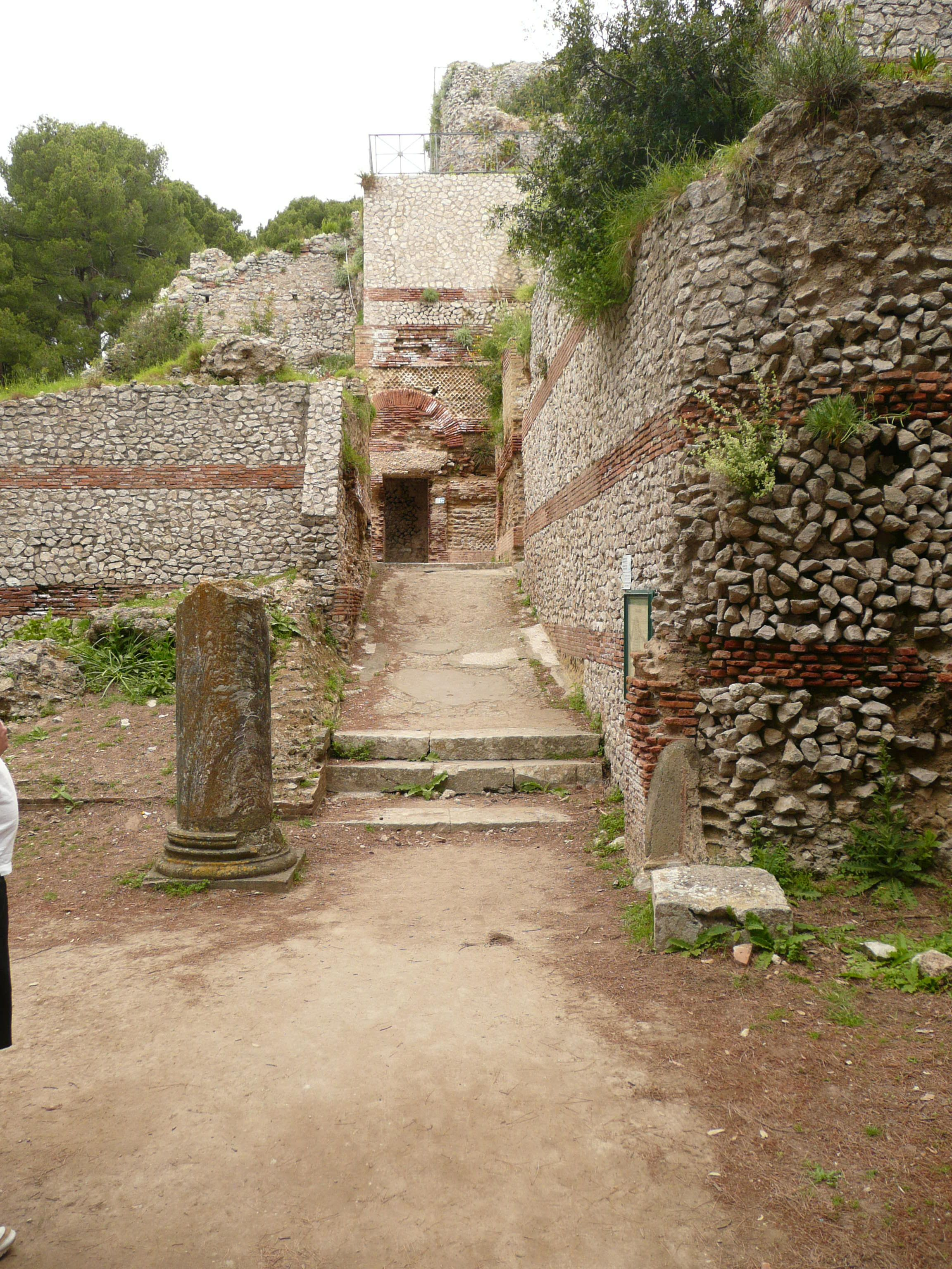 Entrance hall to Villa Jovis, Capri