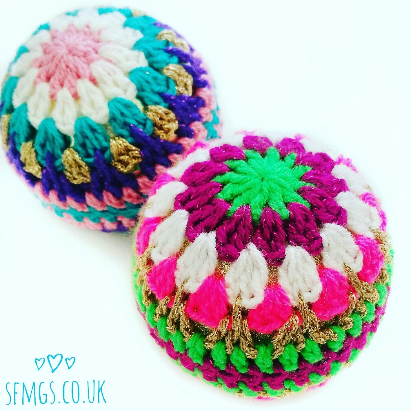 Crochet Christmas Bauble Decorations | Free Crochet Pattern ...