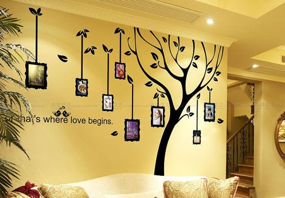 Family Tree Wall Decal-Black Tree Wall Decal Photo Frame ...