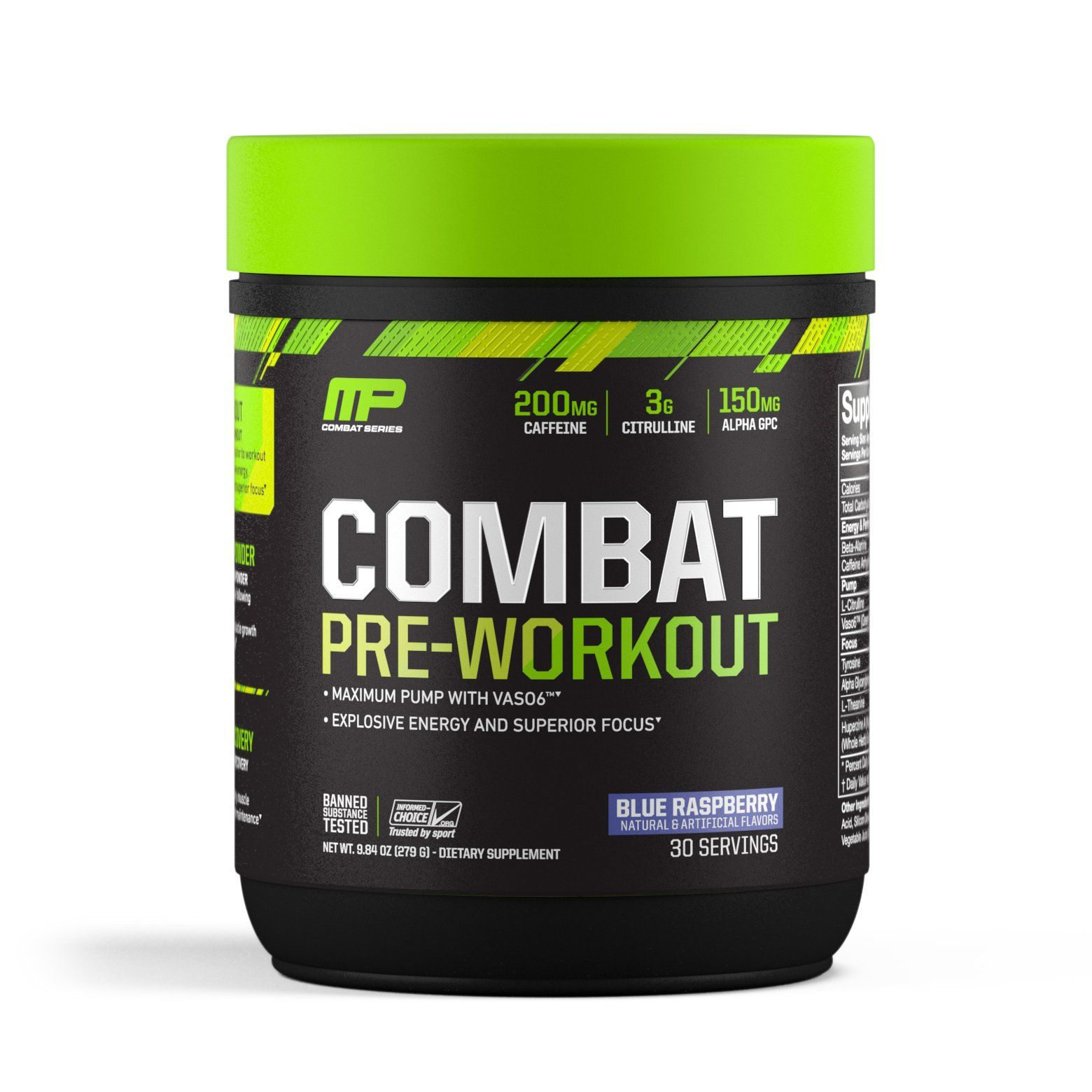 Musclepharm Combat Preworkout Powder For Energy Blue Raspberry 30 Servings You Can Get Additional Details At The Image Workout Fruit Preworkout Muscle Pharm
