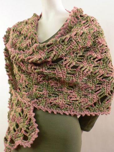 Lattice Lace Wrap Free Crochet Pattern From Caron On