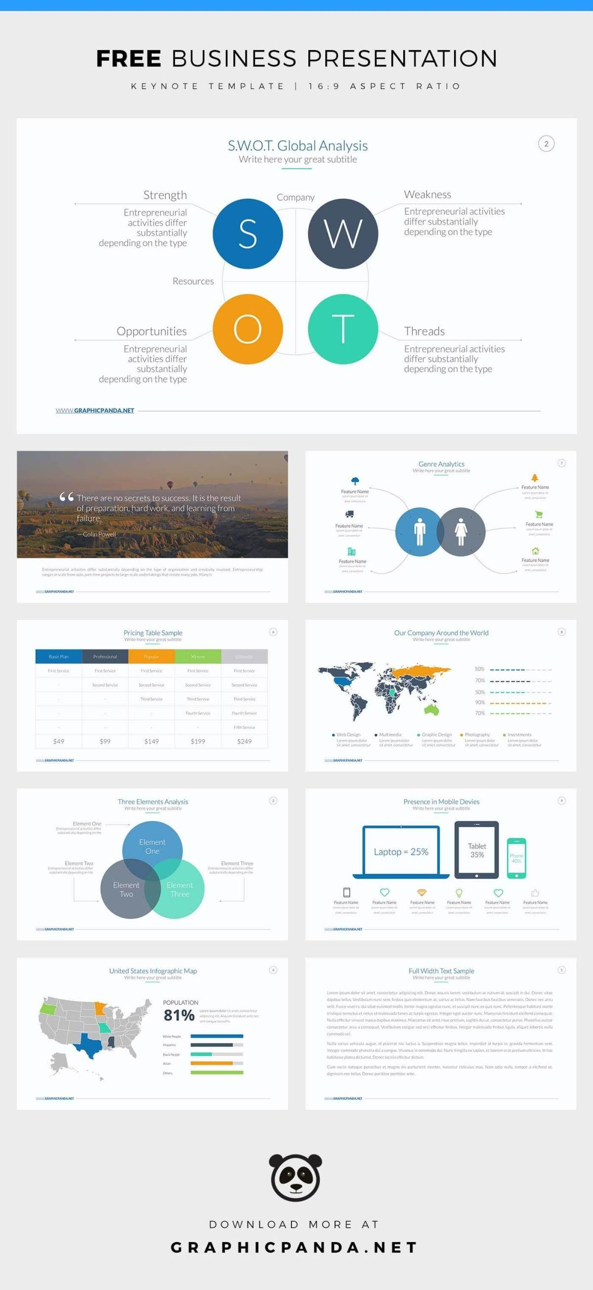 Free Business Keynote Template | Free Keynote Templates | Pinterest ...