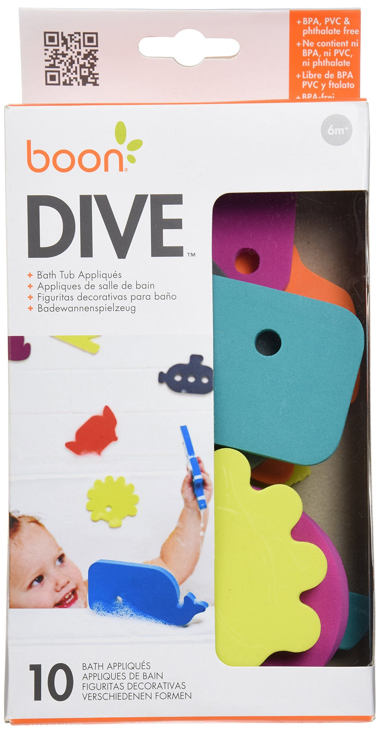 Amazon.com : Boon Dive Bath Tub Appliques, Dive : Bathtub Toys ...
