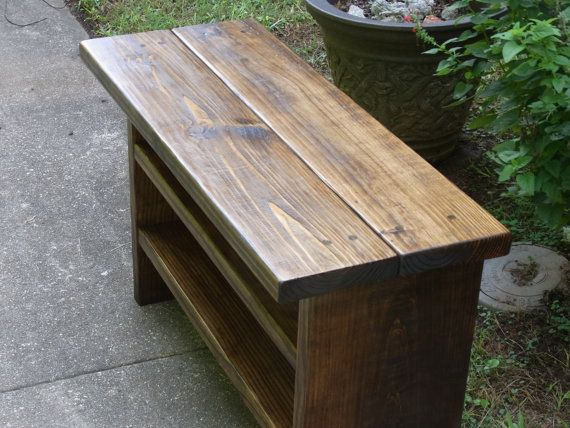 36 Inch Long Tall Rustic Bench Entryway Hallway Mudroom Etsy In 2020 Rustic Bench Pallet Furniture Bench Mudroom Storage Bench