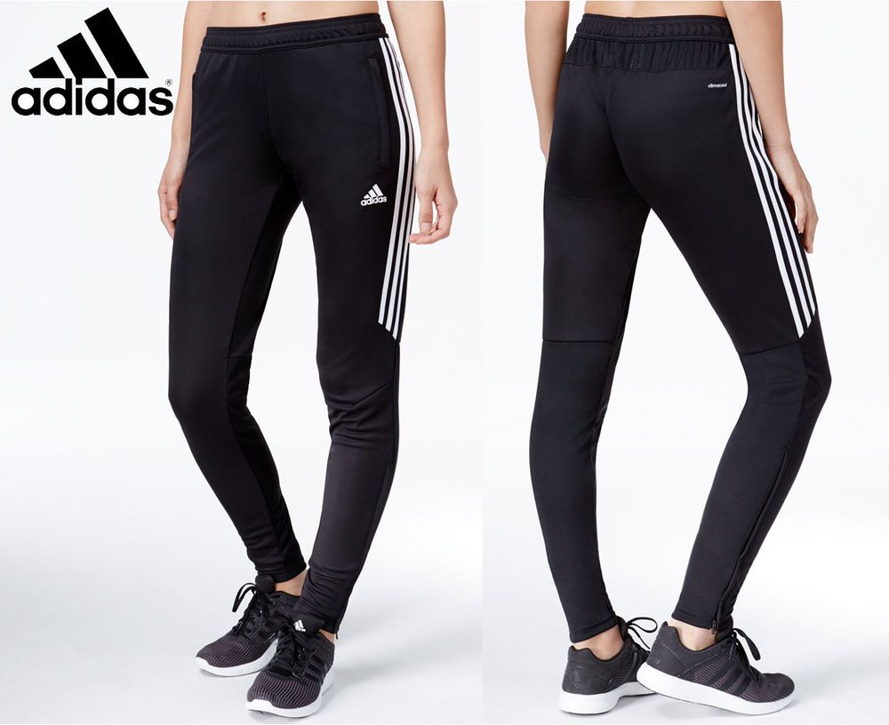 Women's Adidas Soccer Pants Tiro 17 Slim Fit Climacool Black Skinny  Athletic #adidas #PantsTightsLeggings