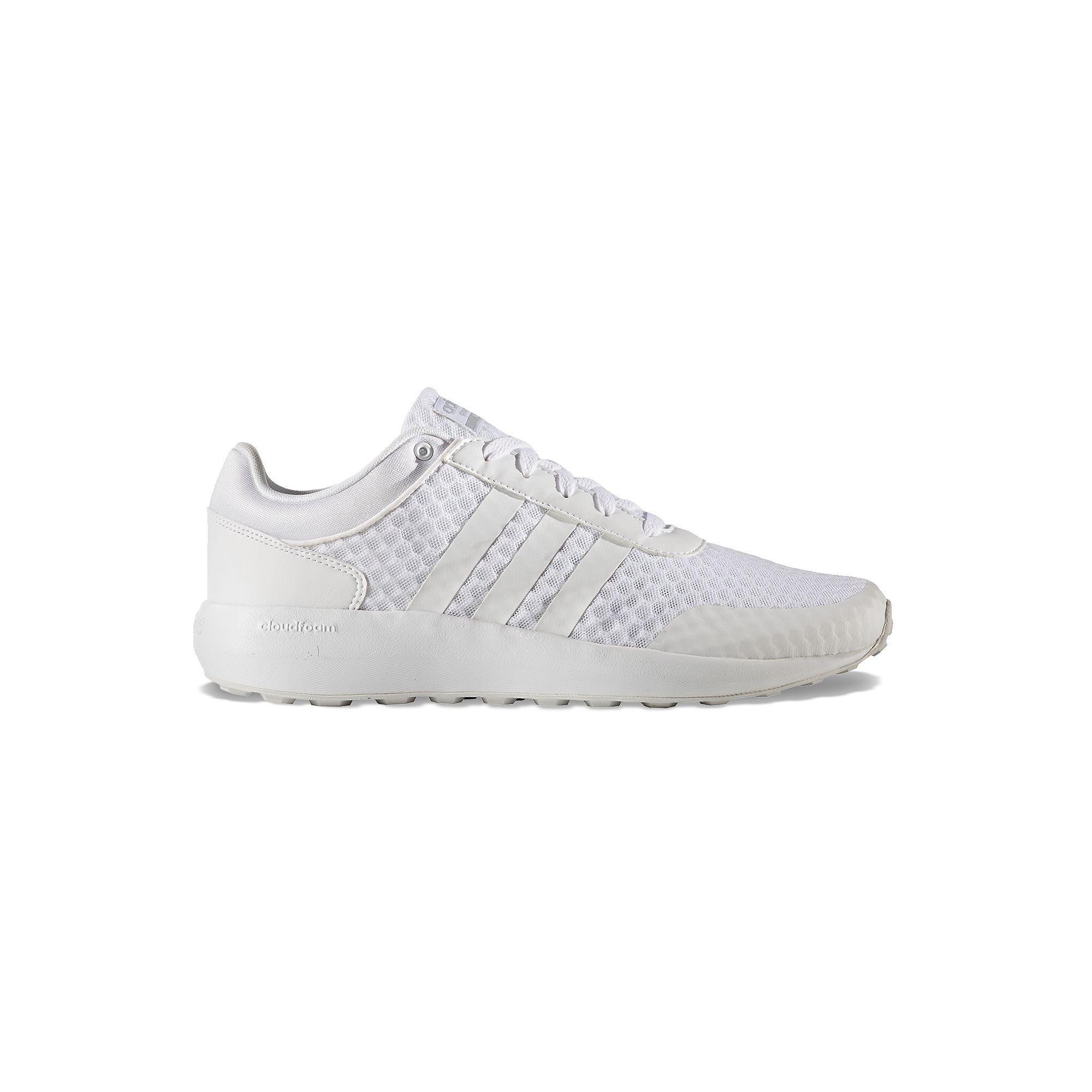 adidas cloudfoam race all white