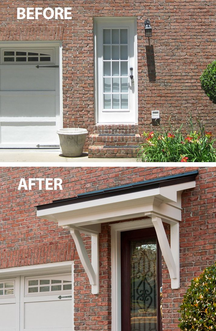 Bracket Portico Front Door Awning Door Awnings House With Porch