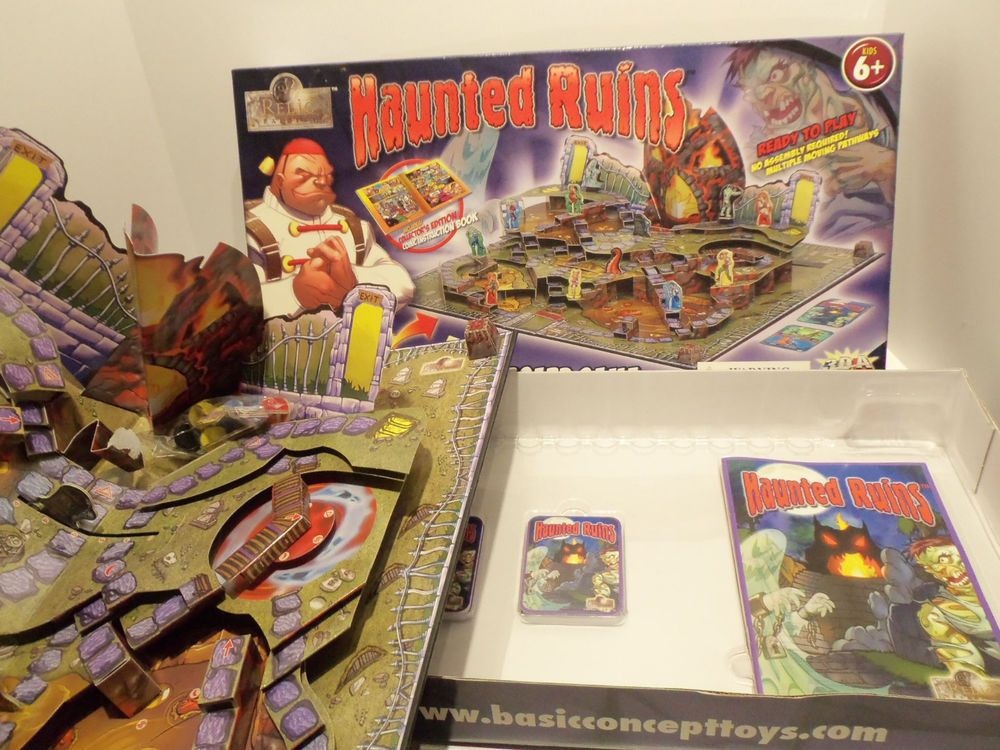 New Haunted Ruins Board Game 3d Pop Up Relic Raiders Comic