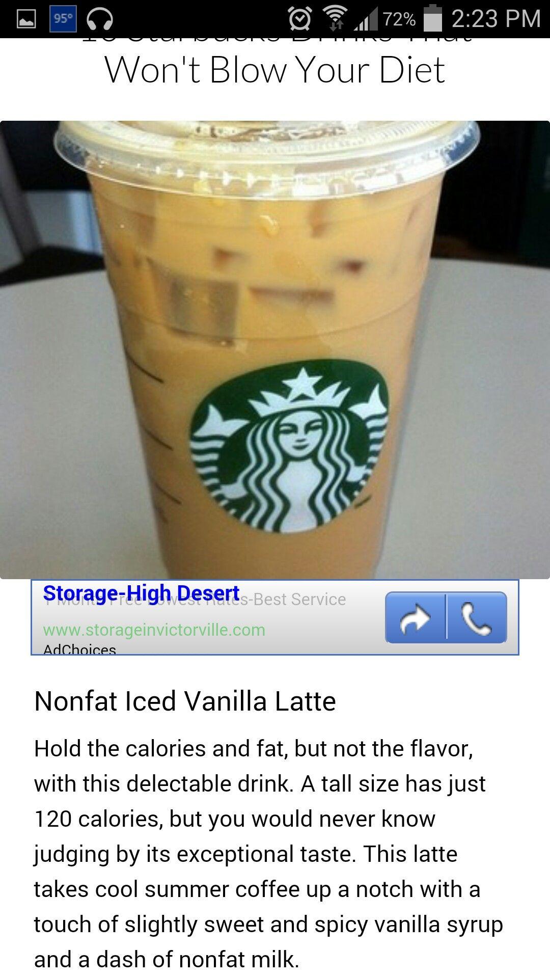 Pin by Christina Rea on coffee | Vanilla latte, Secret menu items, Starbucks drinks