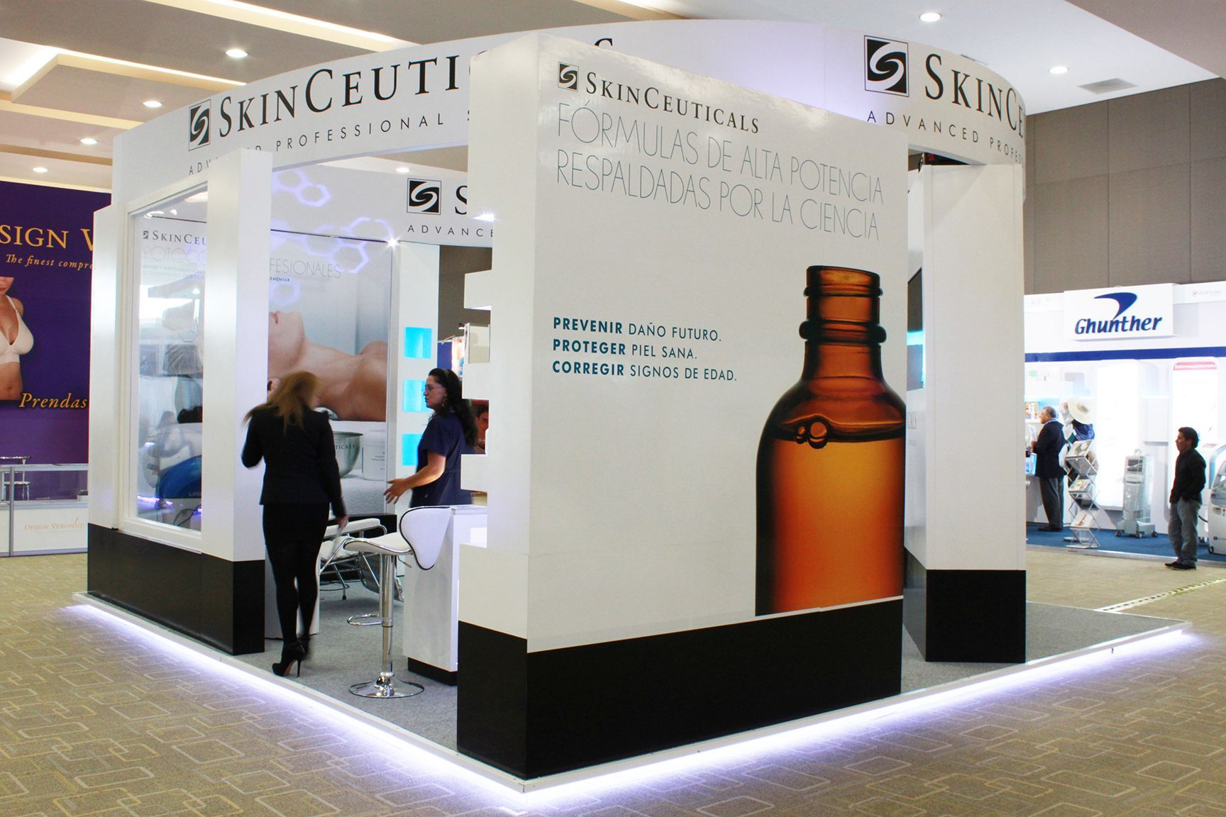 Exhibition Stand Builders Poland : Skinceuticals trade show exhibition stand corporate
