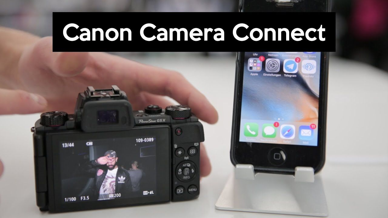 Canon camera connect app transfer photos wireless and