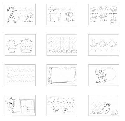 Fichas de grafomotricidad para niños de 4 años - Escuela en la nube ...