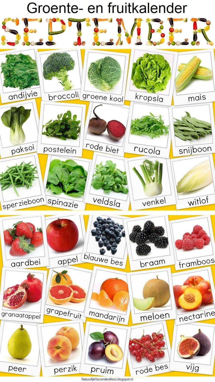 Bekend Natuurlijk Gezond en Mooi: Groente- en fruitkalender september &TT06