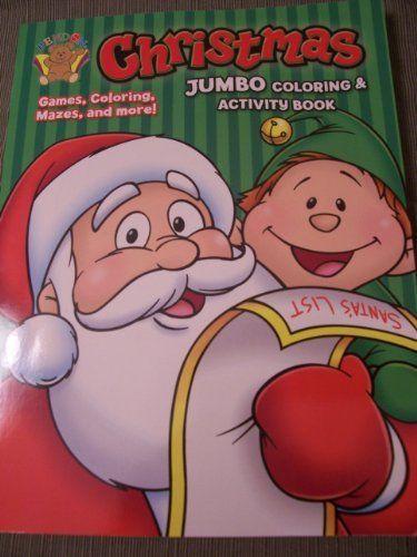 Christmas Holiday JUMBO Coloring Activity Book Santas List 150 Pages By Bendon
