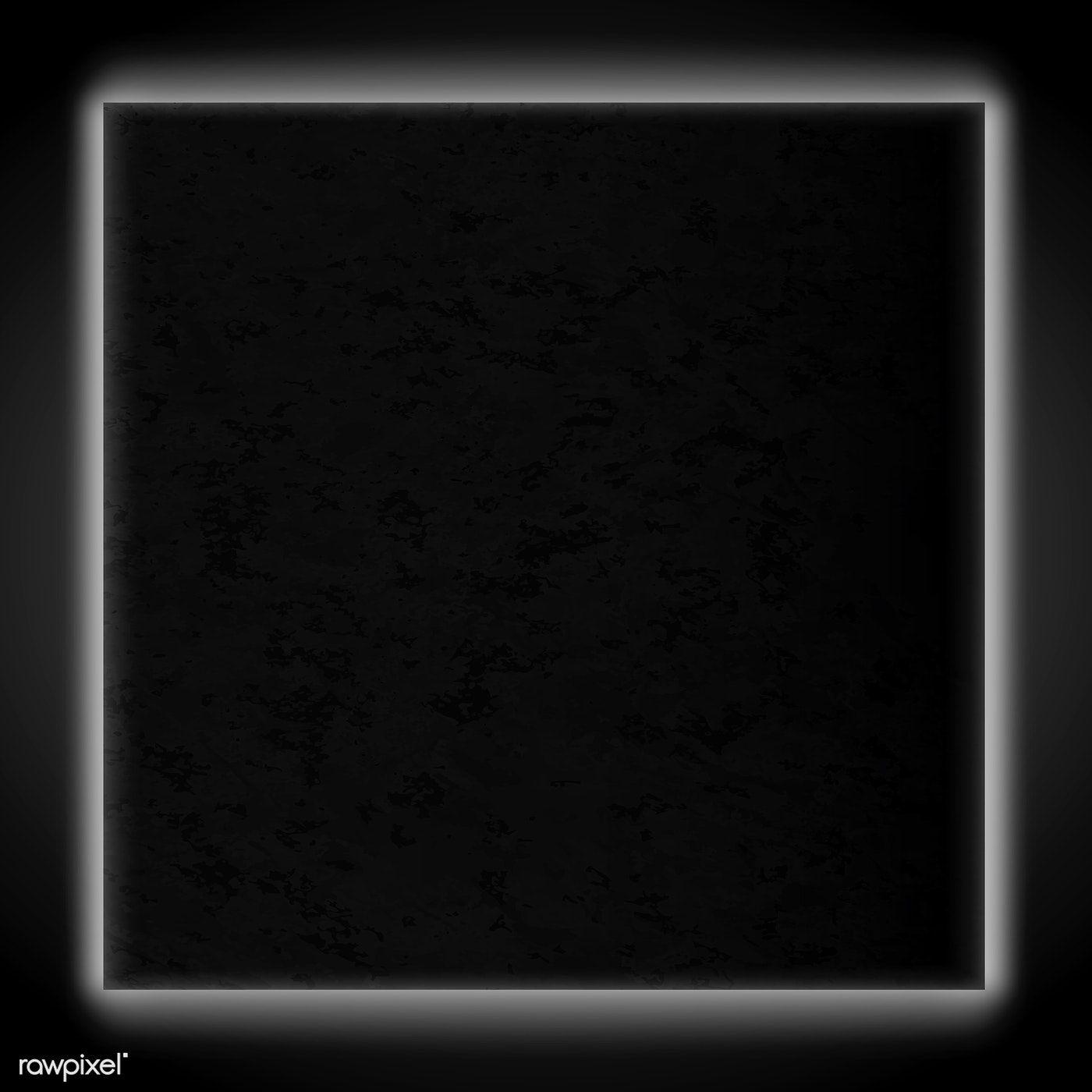 Download Premium Vector Of Square White Neon Light Frame Template Vector Frame Template Neon Lighting Black Background Wallpaper