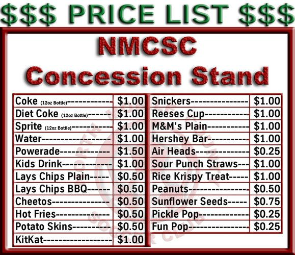 Concession Stand Menu Template from i.pinimg.com