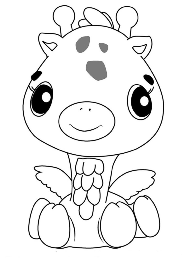 hatchimals girreo coloring pages  giraffe coloring pages