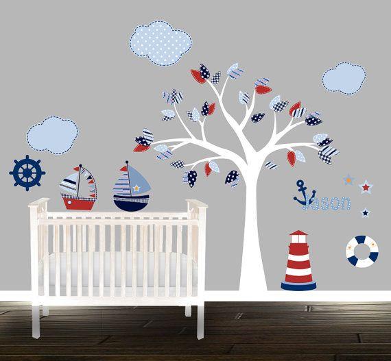 Jungen Kinderzimmer Wand Aufkleber set nautische
