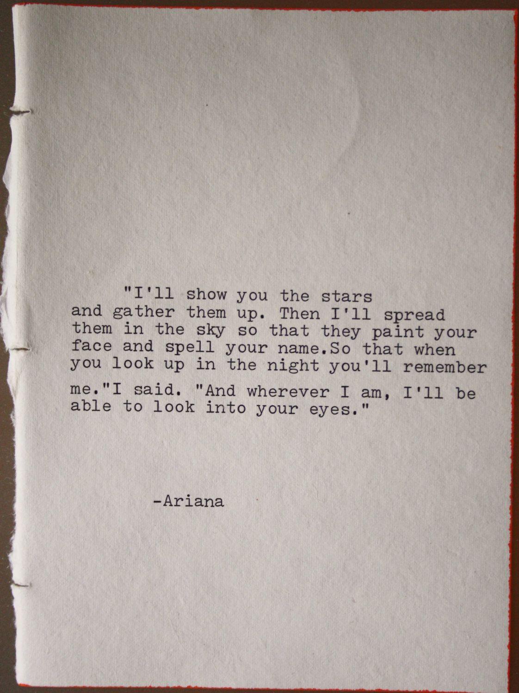 Love poem original poetry love typography quote star print | Etsy