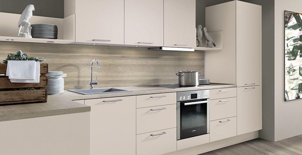 Schröder Küchen Küche ohne Griffe Fenix GLV schwarz Küche