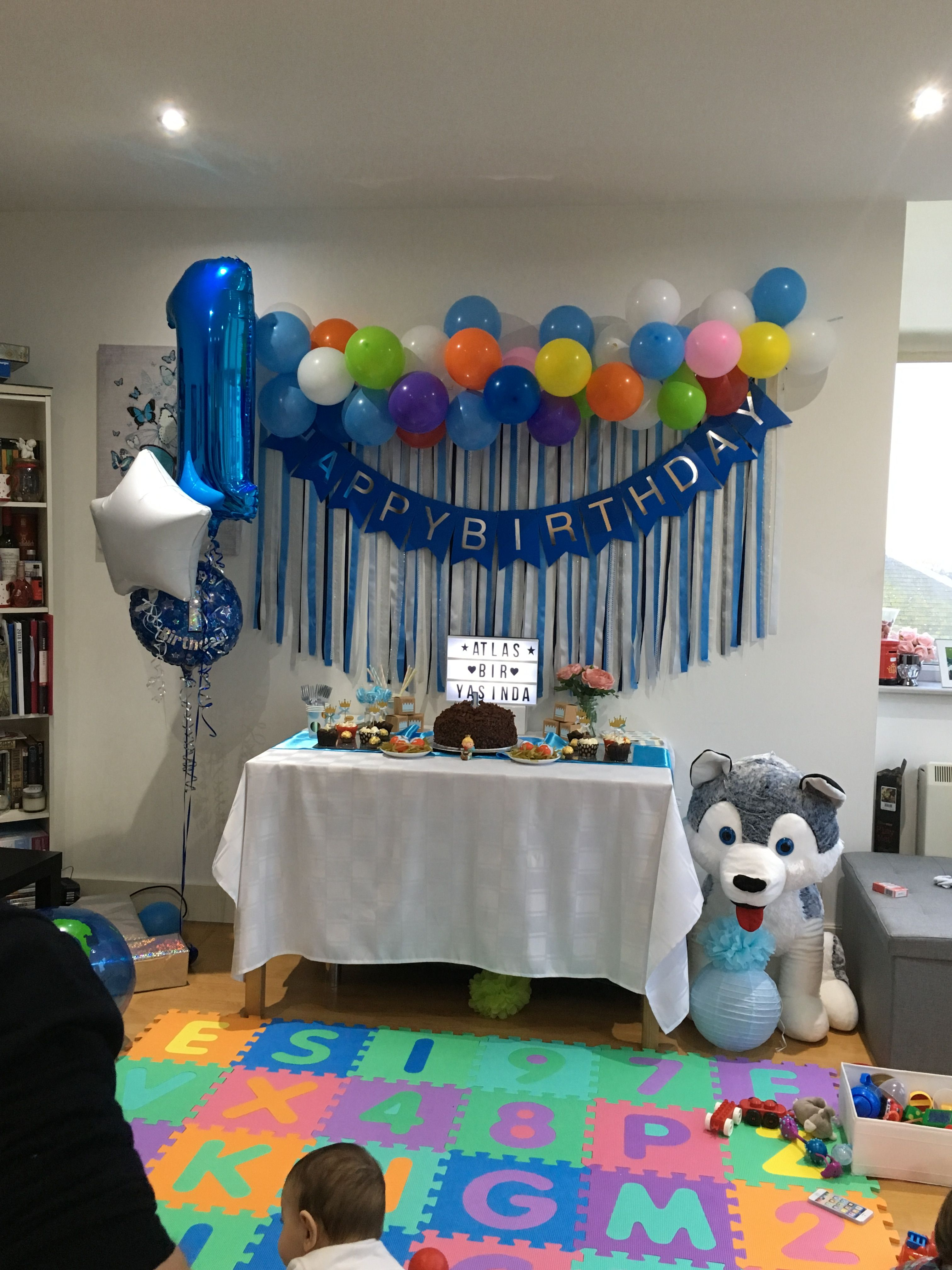 Atlas S First Birthday Birthday Firstbirthday Babyboy Table