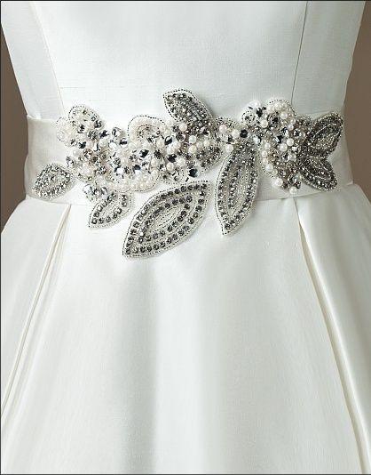 cinturones para vestidos de novia | bordado | bordados para vestidos
