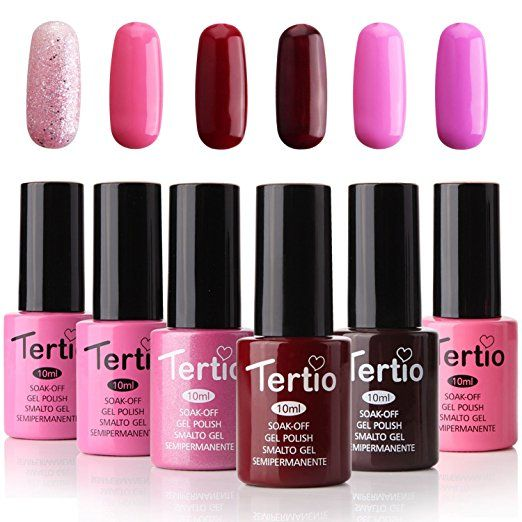 Soak Off Gel Nail Polish Set Uv Led Kit Pink Varnish Pack Of 6 Colors 10ml Just 9 59 W Code Reg 15 99 As 4 20 2018 3 35 Pm Edt