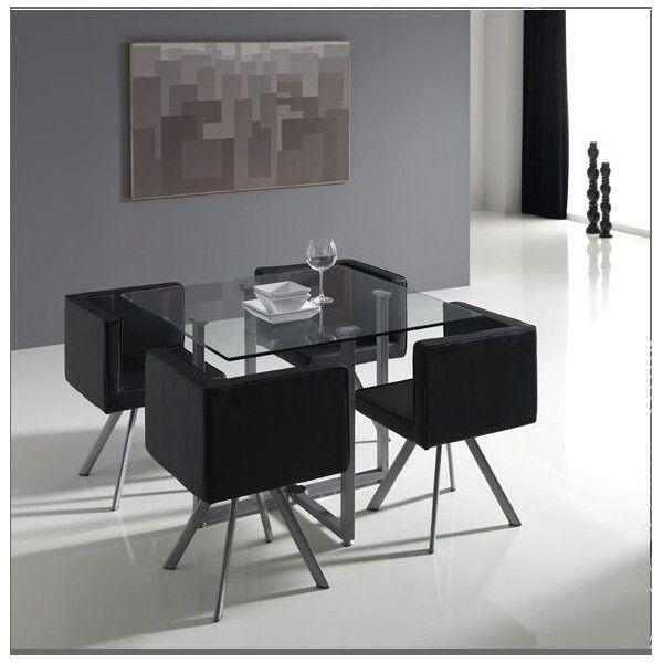 Conjunto de sillas y mesas mod oregon ocupando poco for Comedor decoracion