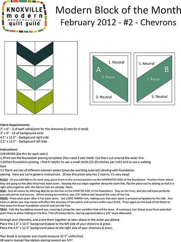 kmqg bom - block 2 - chevrons | patchwork, paper piecing patterns, Powerpoint templates
