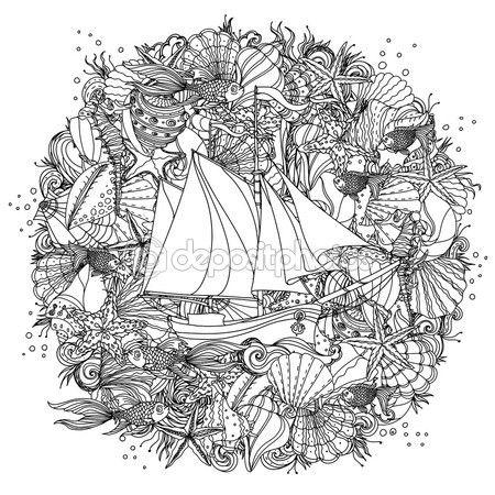 Patrón para colorear libro. — Vector de stock | dibujos | Pinterest ...
