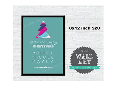 Personalised Christmas Wall Art