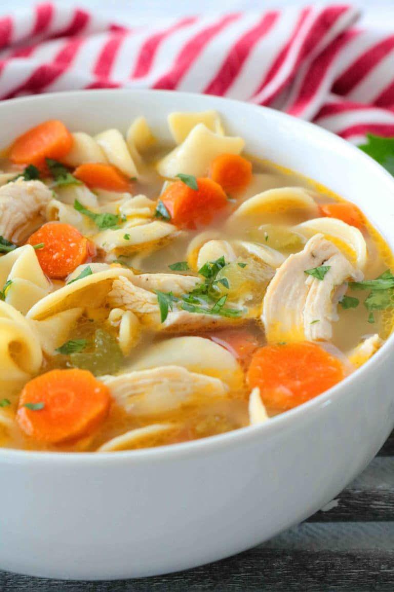 homemade chicken noodle soup  recipe  soup recipes