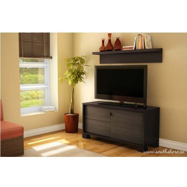 SouthShore Agora Collection 50 Inch TV Stand With Wall
