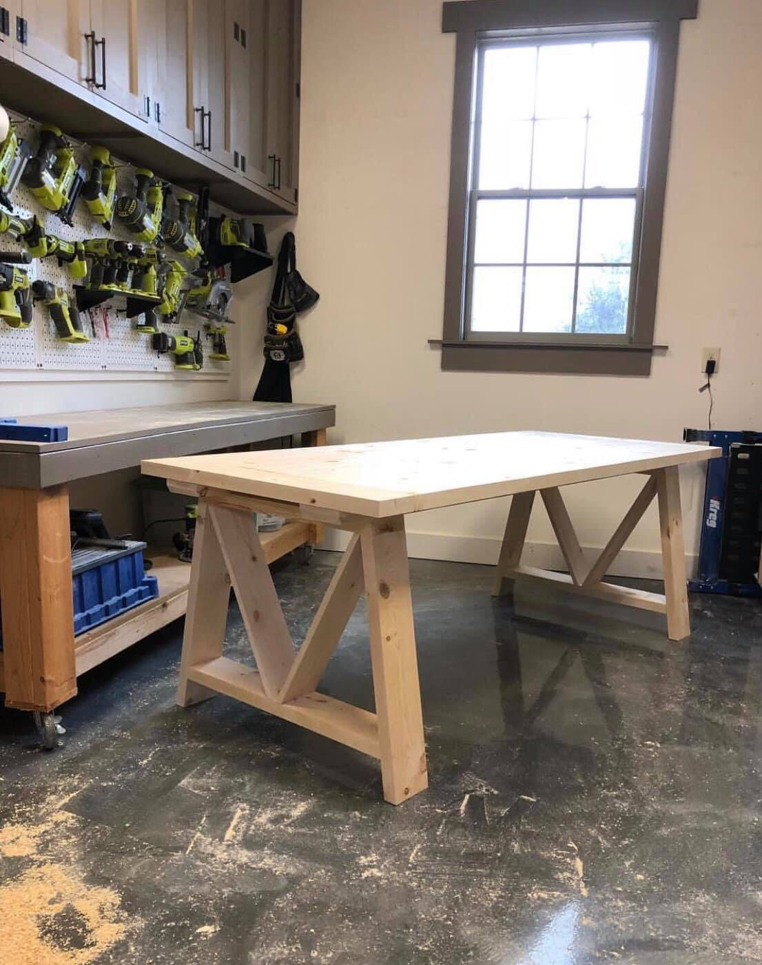 DIY Dining Table for under $100 images