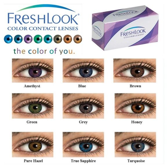 275ce3f4626 Brown - FreshLook Color blends Brown - Color Blend Contacts New in box  never opened Made in the USA Median Diameter 14.5 Prescription 0.00  Expiration ...