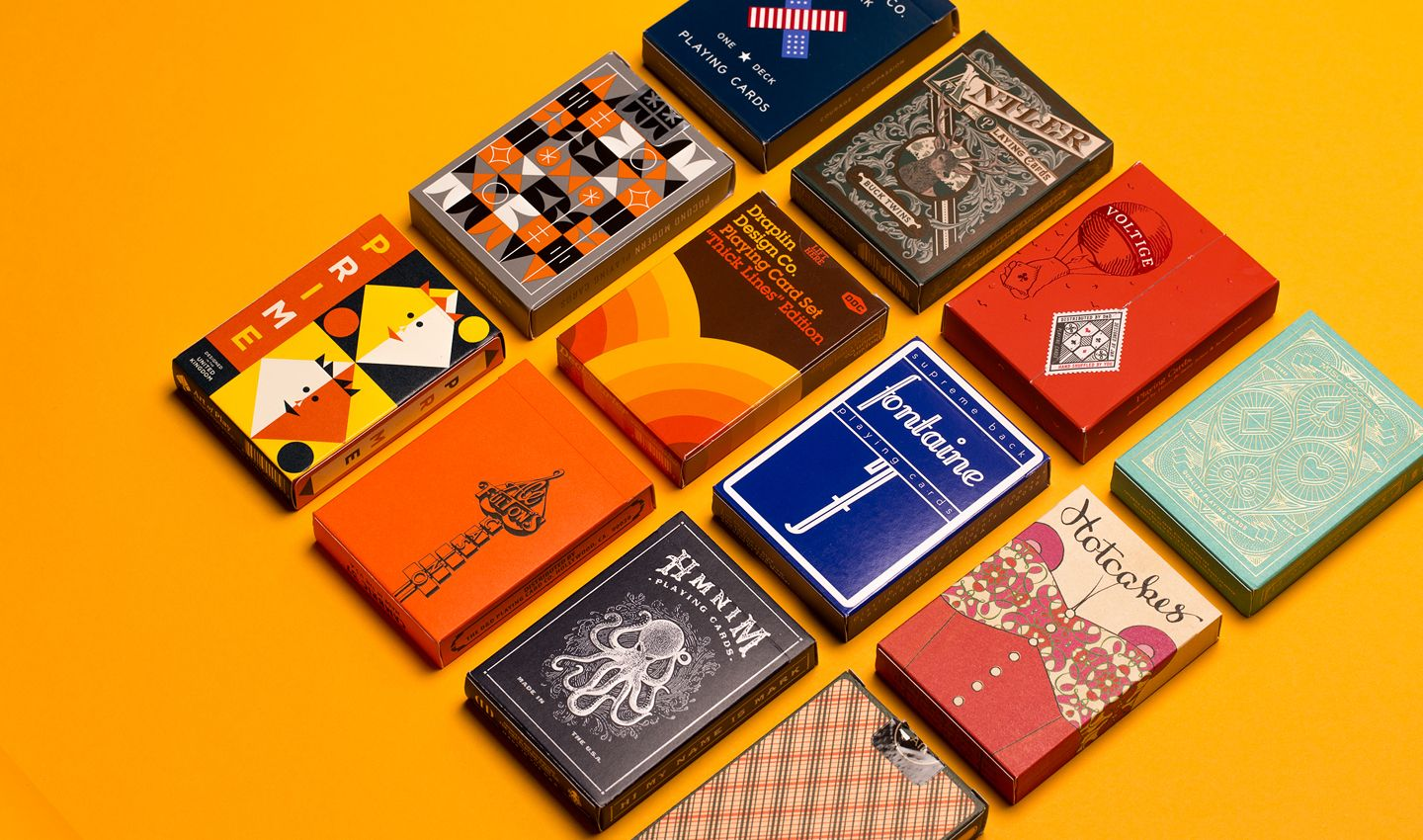 12 new designs on the traditional playing card cool
