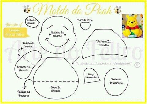 Winnie Pooh template #moldes   Bebe   Pinterest