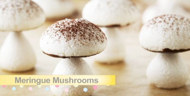 Meringue mushrooms favorite recipes pinterest asian food try this quick and easy meringue recipe from bake with anna olson forumfinder Gallery